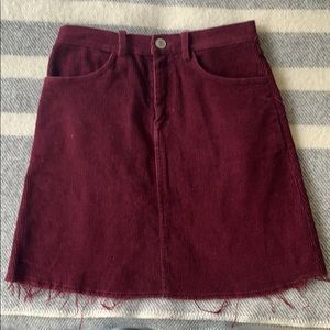 Brandy Melville Coloroid Maroon Mini Skirt (OS)